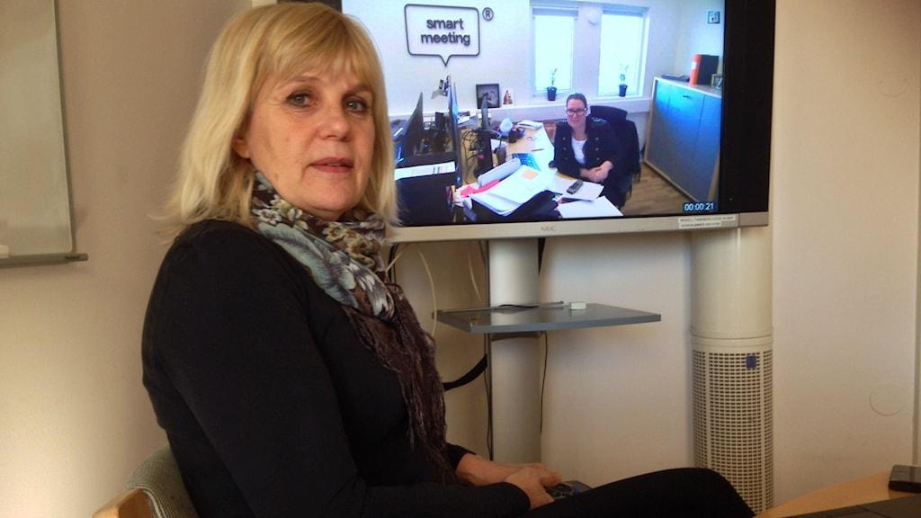 Kerstin Angberg Morgården på Länsstyrelsen hoppas på fina miljövinster i och med Resfria möten. Foto: Eva Rehnström