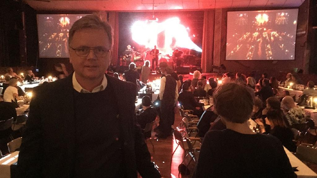 Tommy Munther, arrangör av Dalecarlia Music Awards 2015. Foto: Kristian Åkergren/Sveriges Radio Dalarna.