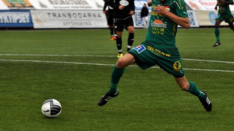 BIlden visar en fotbollsmatch med Dalkurd.