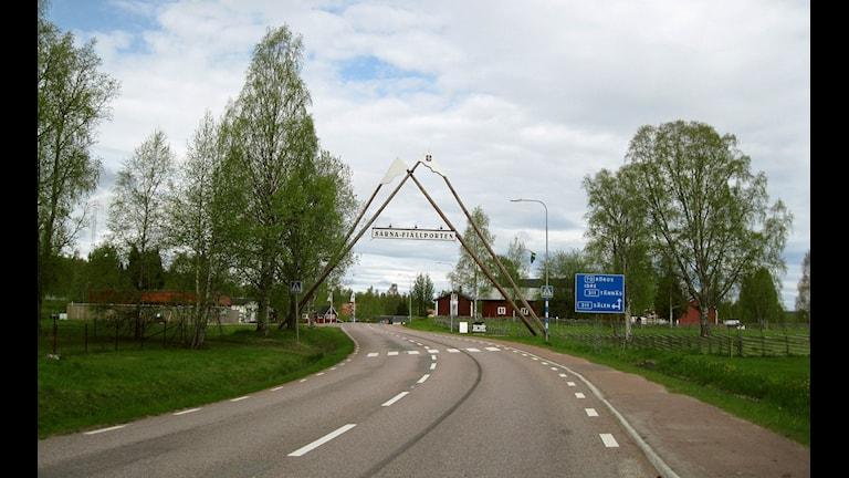 Södra infarten i Särna.