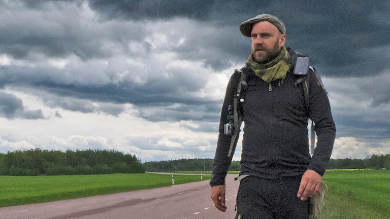 Stiko-Per Larsson vandrar.