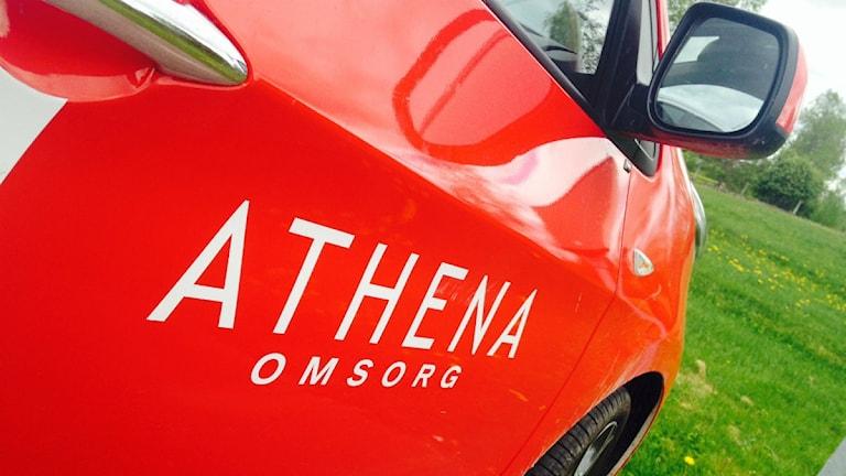En av Athena omsorgs bilar.
