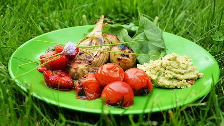 Upplagd vegetarisk maträtt. Foto: Emma Hjortman.