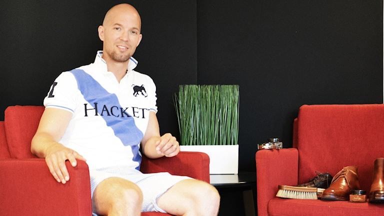 Anders Eriksson med sin utrustning