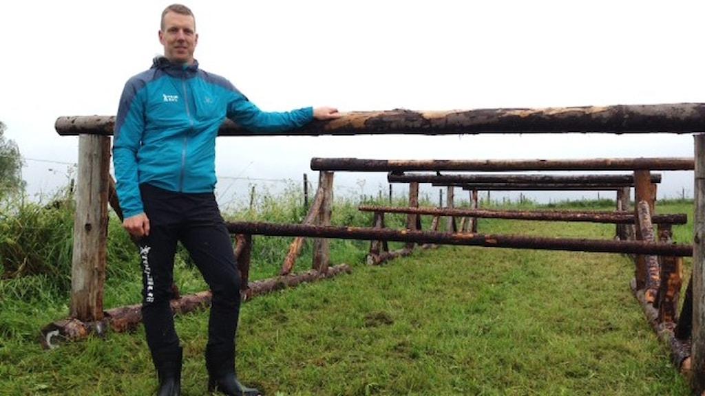 Henrik Josefsson en av arrangörerna till Tough Race. Foto: Karin Casslén.