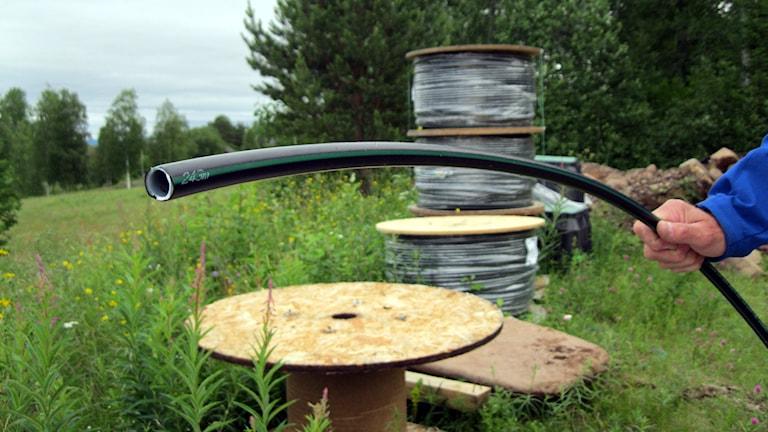 Kabel för optisk fiber (bredband).