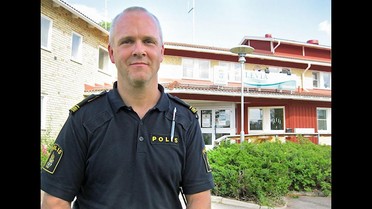 Lars Vinter, polisens kommenderingschef i Rättvik under Classic Car Week 2015.