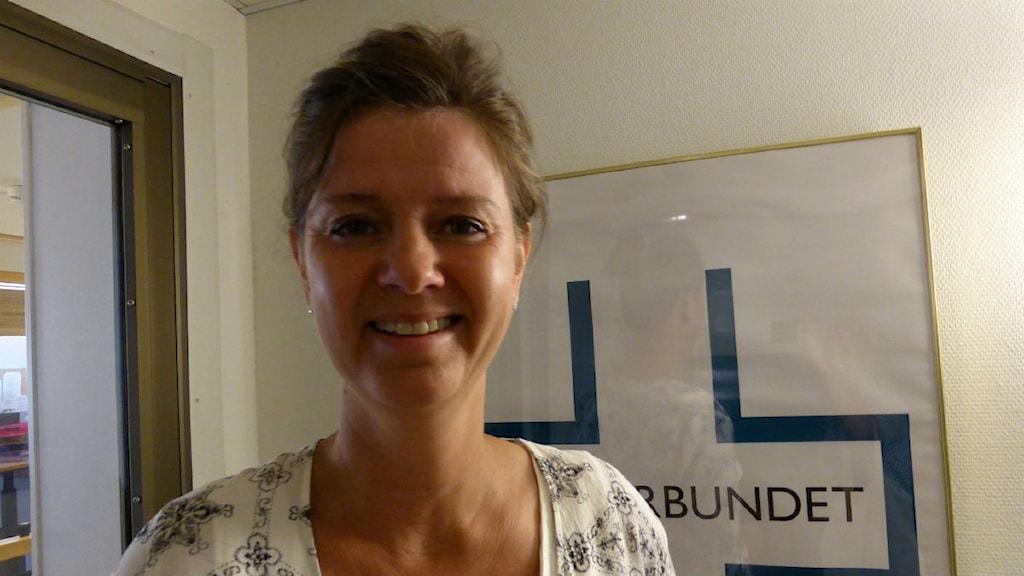 Kerstin Erlandsson ordförande på Vårdförbundet har hört att sjuksköterskorna har bristande språkkunsskaper. Foto: P4 Dalarna