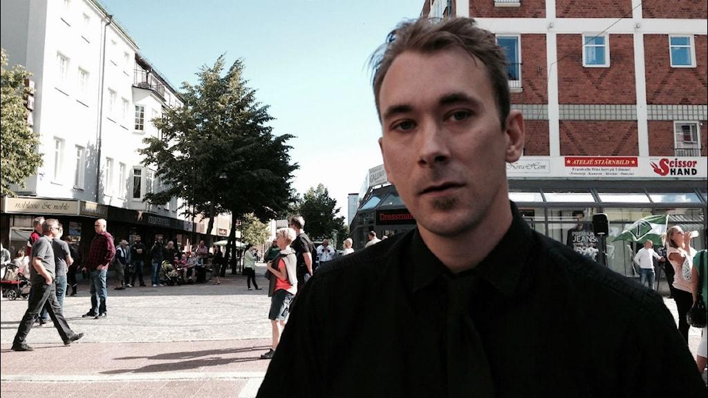 Elias Lodin från Tillsammans Ludvika. Foto: P4 Dalarna