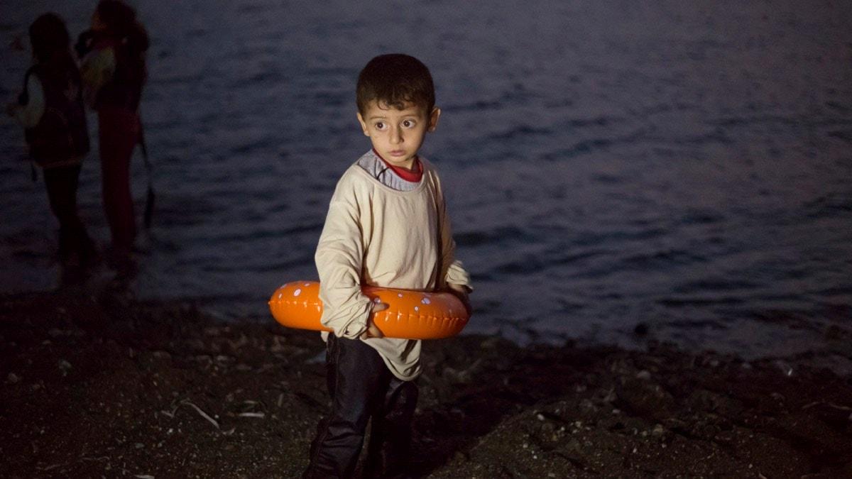 En syriansk flyktingpojke