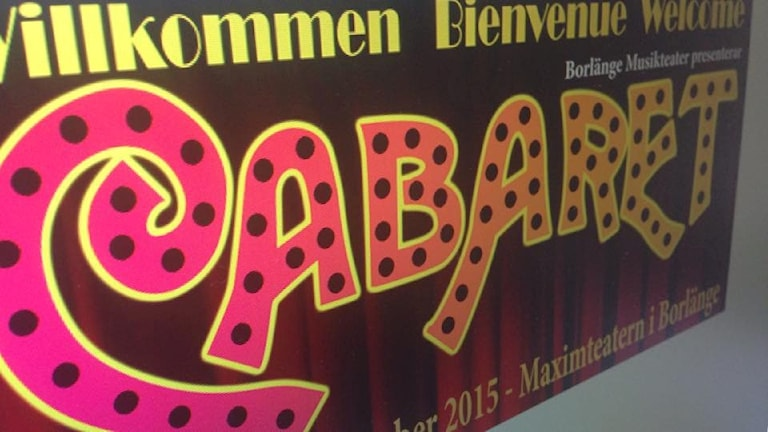 Bild på broschyren för musikalen Cabaret.