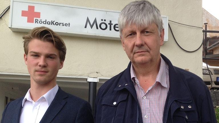 Gustav Ericsson (M) oppositionsråd och Ulf Hansson (S) kommunalråd i Hedemora