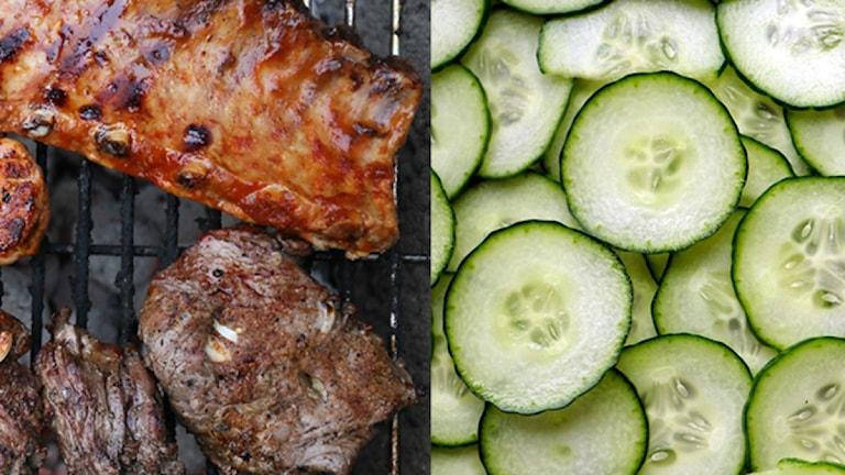 Kött och gurka