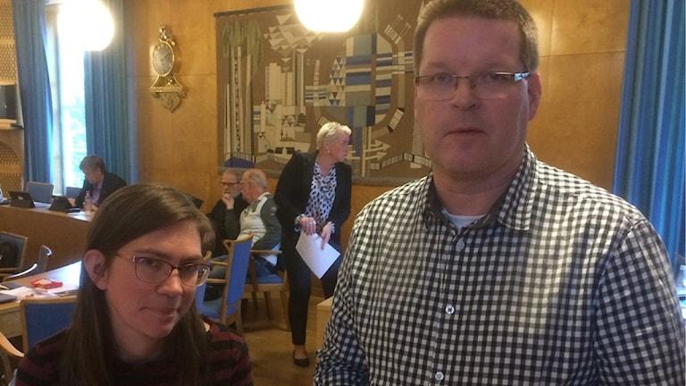 Lotta Wedman (MP) och Leif Pettersson (S)