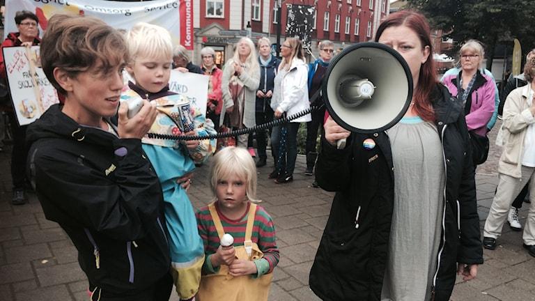 Erika Hagegård, som har två barn i förskolan. Foto: Marin Eriksson/ Sveriges Radio