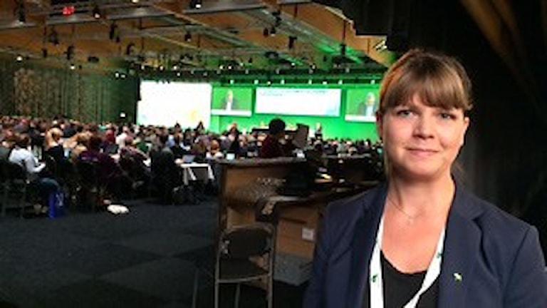 Sofia Jarl, Centerpartiet Gagnef. Bilden tagen på partistämman i Falun 2015.