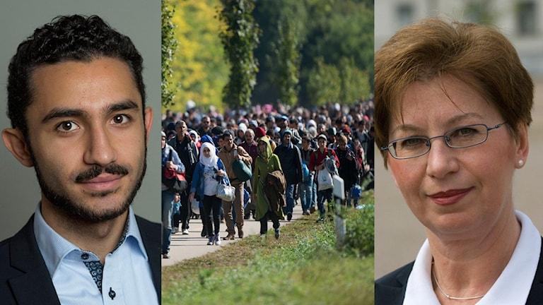 Daniel Riazat, flyktingar och Anna Hagwall
