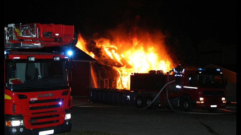 Branden i Krylbo. Foto: Torbjörn Wåhlin.