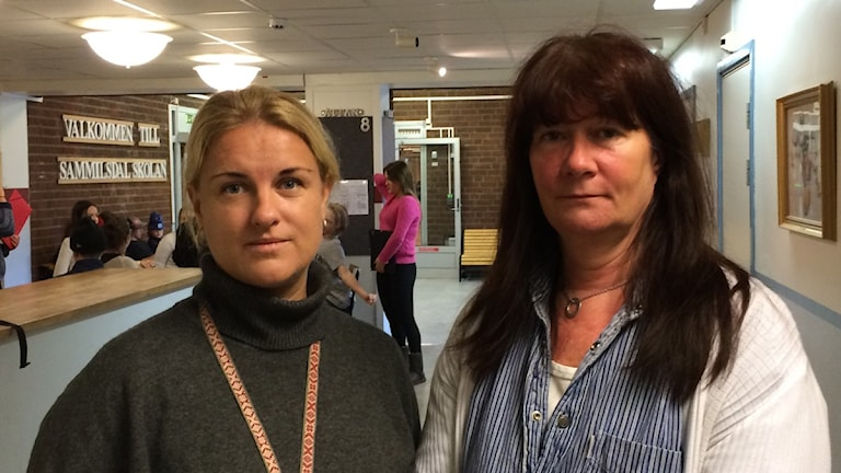 Annica Sandy-Hedin, rektor och Marit Brolin, so-lärare på Sammilsdalskolan