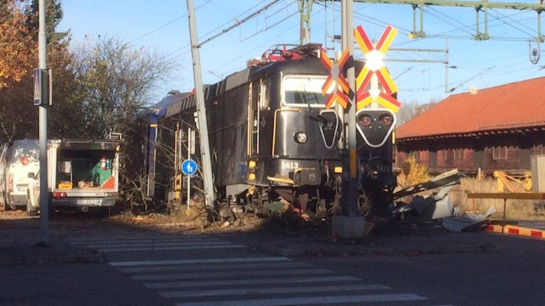 Morgontåget med nummer 41 från Mora mot Stockholm har spårat ur i Sala.