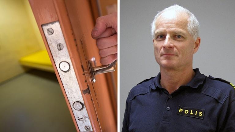En polisarrest och Mats Lagerblad som är polisområdeschef.