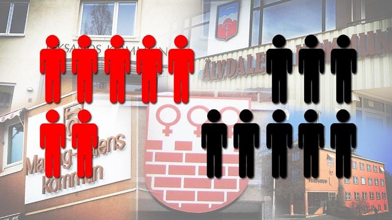 Sju av femton av länets kommunchefer bor i en annan kommun än den de arbetar i.