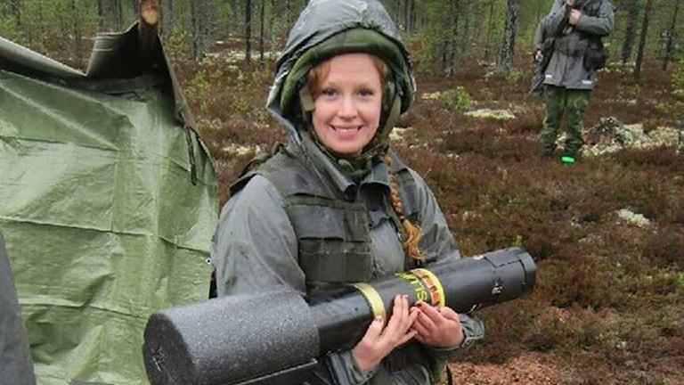 Therese Gunnars, rekryteringskoordinator vid Försvarsmakten. Foto: Privat