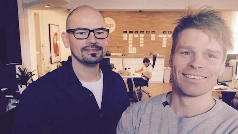 Jimmy Nilsson och Gabriel Alenius på reklambyrån Background i Falun