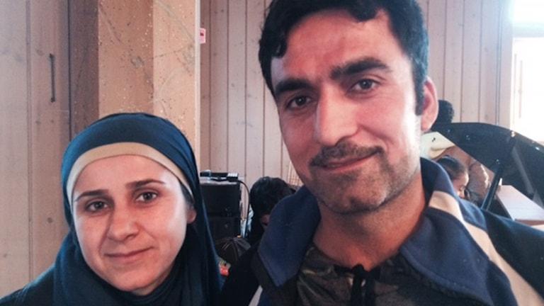 Jihan Kournassan och hennes man Ali Mohamad från Aleppo i Syrien.