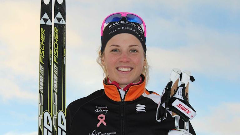 Längdskidåkaren Anna Dyvik från Leksand.