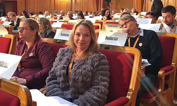 Monica Lundin, Borlänge, på (Folkpartiet) Liberalernas landsmöte 2015.