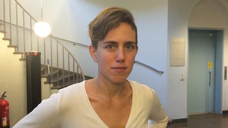Erika Hagegård vill ha världens tuffaste jobb. Foto: Lars Svan/Sveriges radio