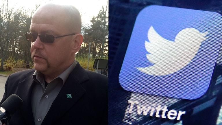 Pär Öberg och Twittersymbolen