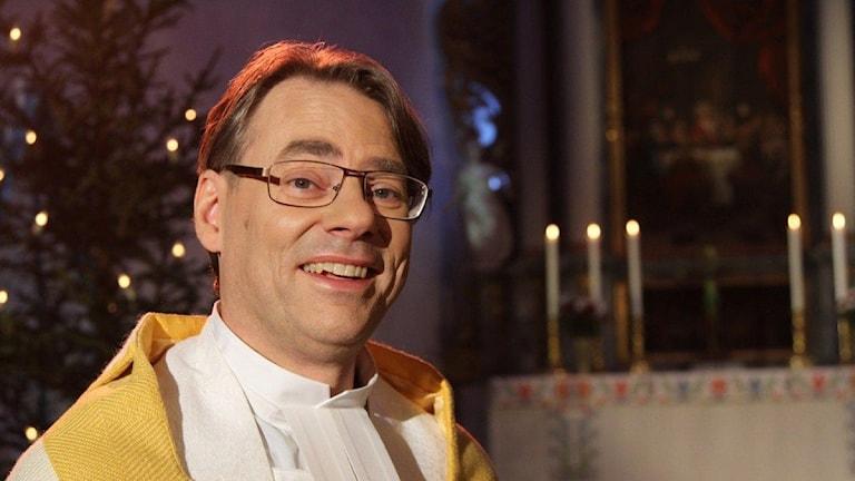 John Sund, präst i Leksand. Foto: Johannes Söderberg / SVT.