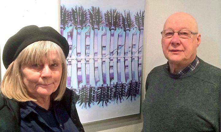 Bilden visar Rosvita och Torvild Jonsson, Ludvika fotoklubb