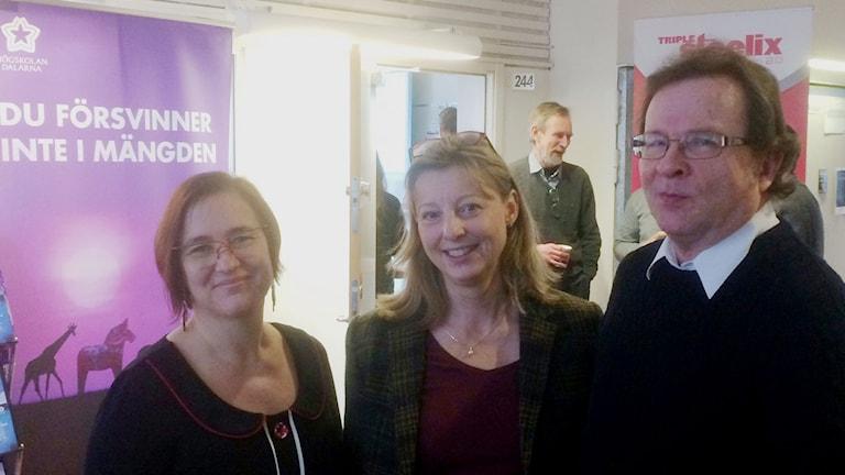 Marita Hilliges, Elisabeth Dahlstedt och, Jan Sundqvist deltog i Högskolan Dalarnas, Industridag i Borlänge. Foto Stefan Ubbesen.
