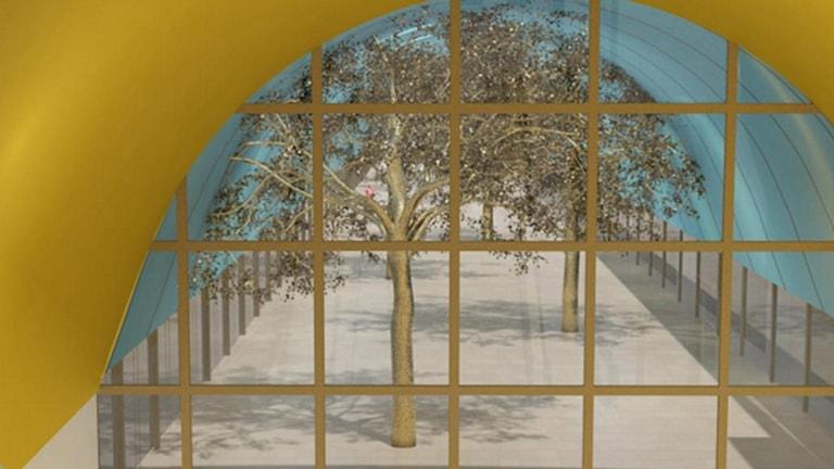 Konstnären Peter Johansson från Sälen har tillsammans med sin samarbetspartner Barbro Westling fått uppdraget att smycka ut en av de nya tunnelbanestationerna i Stockholm.