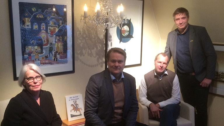 Ingalis Morfeldt, Peter Elmlund, Johan Thomasson och, Lars Isacsson.