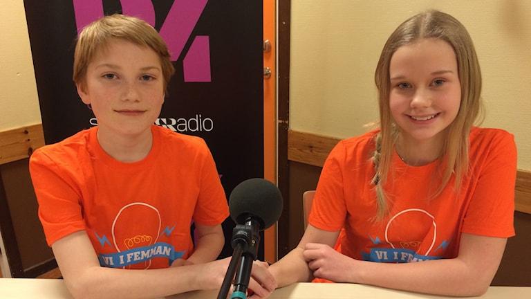 Alfred Munters och Mimmi Andersson i 5 a på Berghedens skola i Vansbro