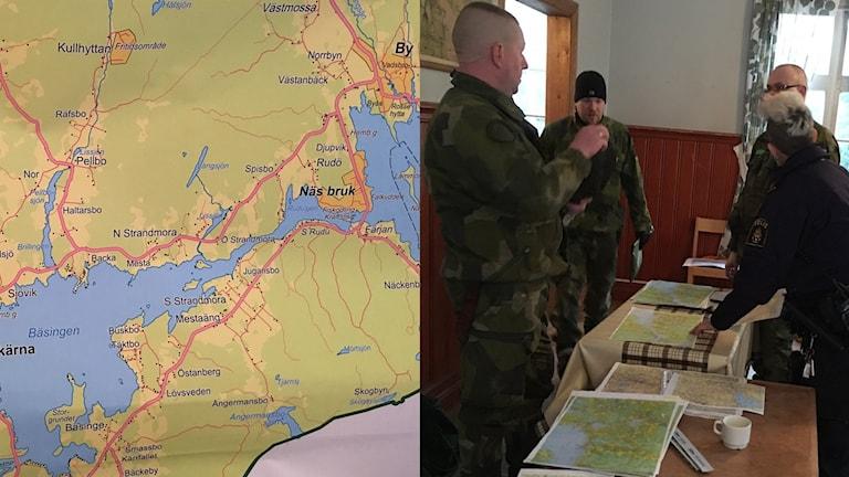 Karta och militärer