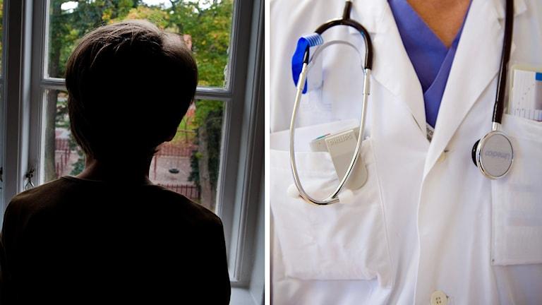 Bild av ett barn och en läkare