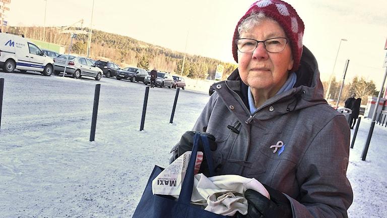 Bilden visar Margot Holmgren, kund i Falun.