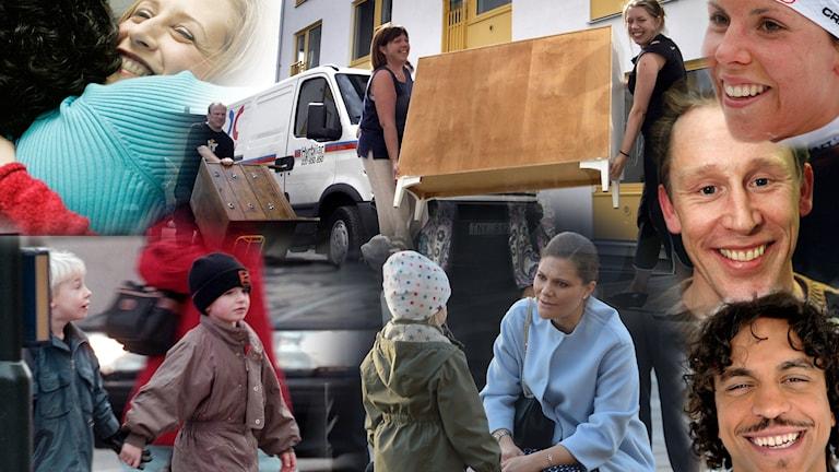 Bilden är ett montage av olika bilder som ska symbolisera vänlighet.