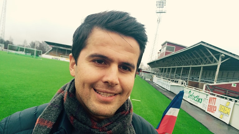 Adil Kizil, sportchef i Dalkurd. Foto: Martin Eriksson / Sveriges Radio.