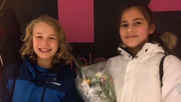 Esbjörn Montelius Risberg och Meral Mulood tog hem segern för Slättaskolan
