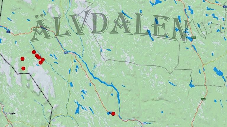 Karta Älvdalen