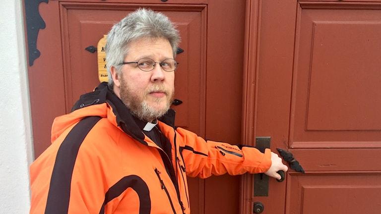 Pontus Gunnarsson, präst i Hedemora-Garpenbergs Församling. Foto: Martin Eriksson / Sveriges Radio.