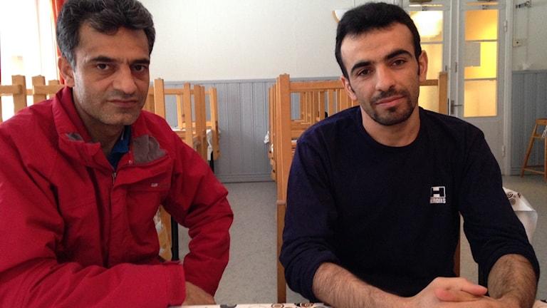 Ahmad Jawed Deyant och Masirahmad Nazami bor på Vikagårdens asylboende.