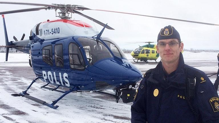 Anders Bälter som leder polisens trafikövervakning i hela Vasaloppsområdet i helgen.