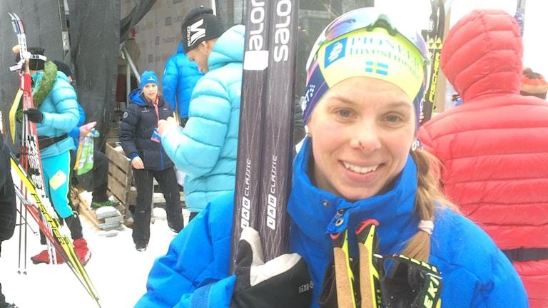 Lina Korsgren trea i Vasaloppet 2016.